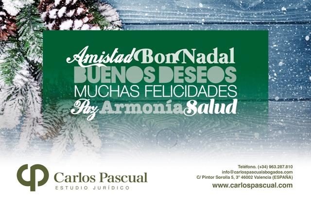 Estudio Jurídico Carlos Pascual les desea Feliz Navidad