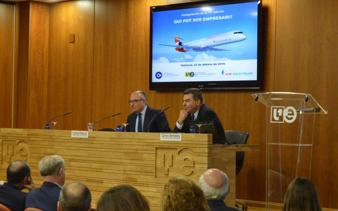 Carlos Pascual: 'la calidad y el compromiso de los profesores de la Càtedra de Cultura Empresarial es inalcanzable'
