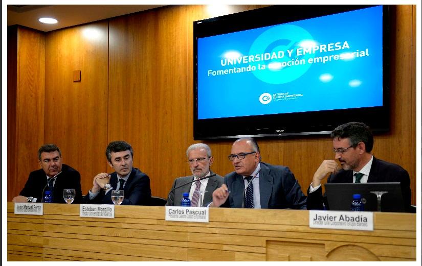 Carlos Pascual preside la clausura de Qui pot ser empresari? en la Càtedra de Cultura Empresarial